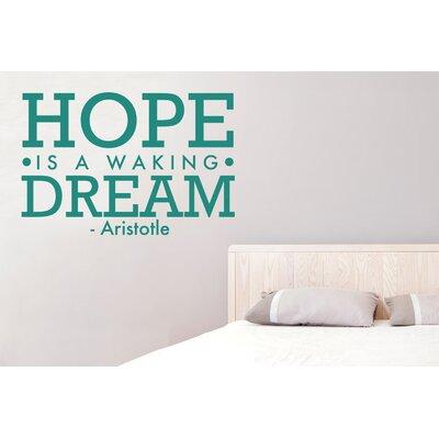 Cut It Out Wall Stickers Aristotle Hope Is Walking Dream Wall Sticker