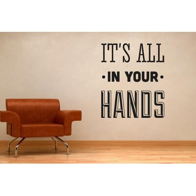 Cut It Out Wall Stickers It's All In Your Hands Wall Sticker