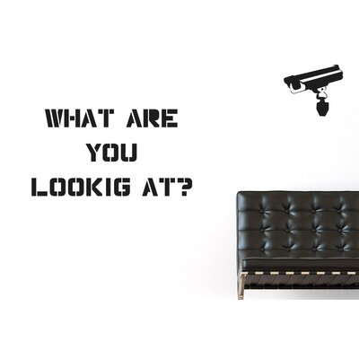 Cut It Out Wall Stickers What Are You Looking At Wall Sticker