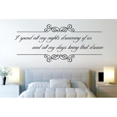 Cut It Out Wall Stickers I Spend All My Nights Dreaming Of Us Wall Sticker