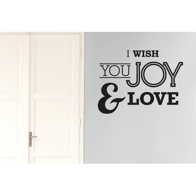 Cut It Out Wall Stickers I Wish You Joy and Love Wall Sticker