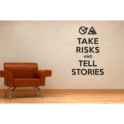 Cut It Out Wall Stickers Take Risks and Tell Stories Wall Sticker