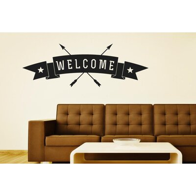 Cut It Out Wall Stickers Welcome Arrows Through Banner Sign Wall Sticker