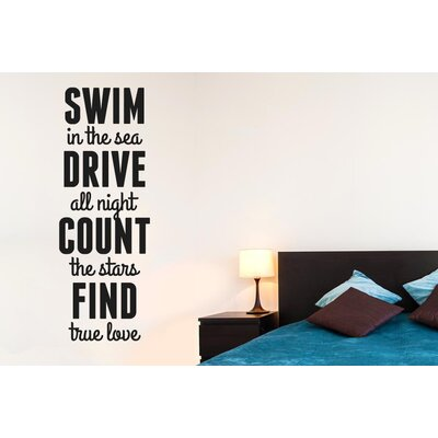 Cut It Out Wall Stickers Swim In Sea Drive All Night Count Wall Sticker