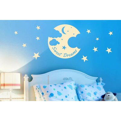 Cut It Out Wall Stickers Sweet Dreams Moon Stars and Clouds Wall Sticker