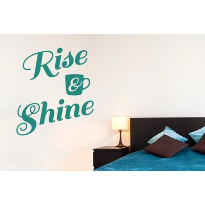 Cut It Out Wall Stickers Rise and Shine Wall Sticker