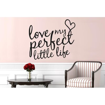 Cut It Out Wall Stickers Love My Perfect Little Life Heart Wall Sticker