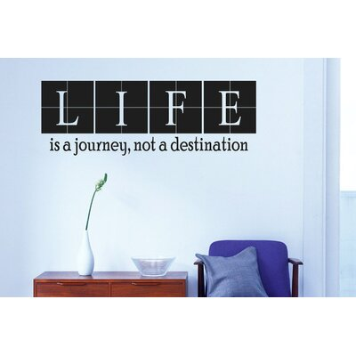 Cut It Out Wall Stickers Life Is A Journey Not A Destination Wall Sticker