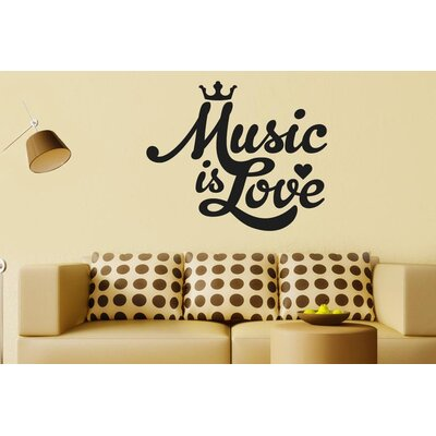 Cut It Out Wall Stickers Music Is Love Wall Sticker
