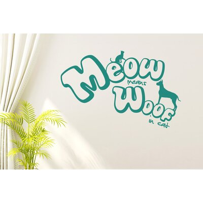 Cut It Out Wall Stickers Meow Meow Wall Sticker