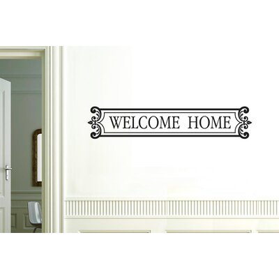 Cut It Out Wall Stickers Welcome Home Framed Sign Wall Sticker
