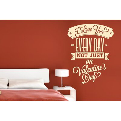 Cut It Out Wall Stickers Love You Every Day Not Just On Valentine Day Wall Sticker