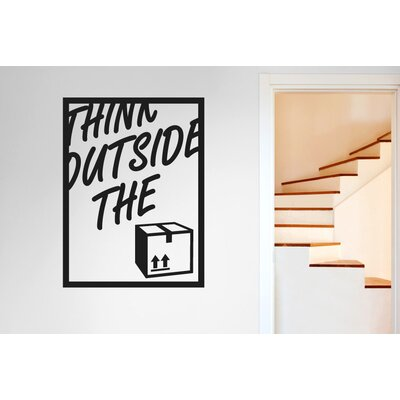 Cut It Out Wall Stickers Think Outside the Box Wall Sticker