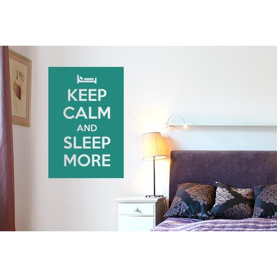Cut It Out Wall Stickers Keep Calm And Sleep More Wall Sticker