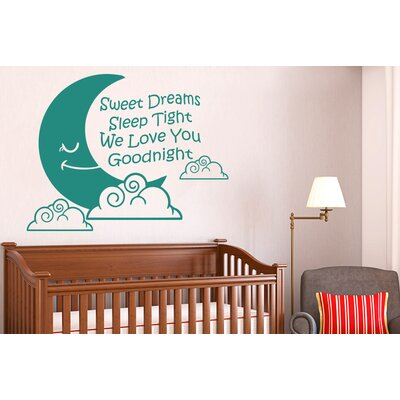 Cut It Out Wall Stickers Sweet Dreams Sleep Tight We Love You Goodnight Wall Sticker