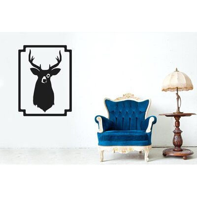Cut It Out Wall Stickers Moose Stag Head Framed Wall Sticker