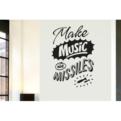 Cut It Out Wall Stickers Make Music Not Missiles Wall Sticker