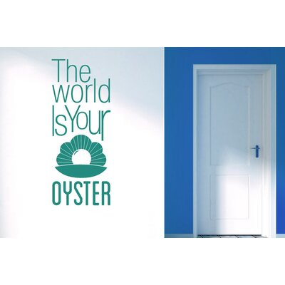 Cut It Out Wall Stickers The World Is Your Oyster Wall Sticker