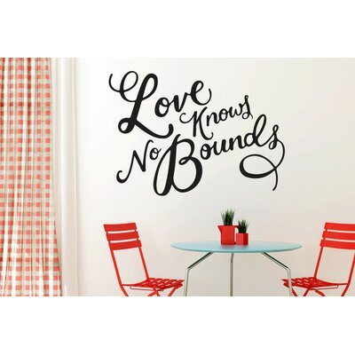 Cut It Out Wall Stickers Love Knows No Bounds Wall Sticker