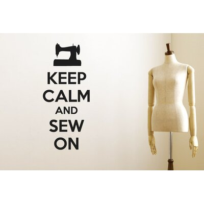 Cut It Out Wall Stickers Keep Calm And Sew On Wall Sticker