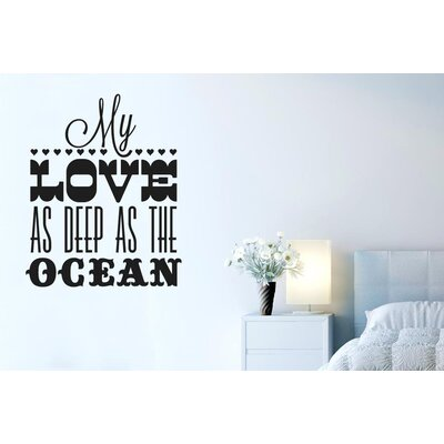 Cut It Out Wall Stickers My Love As Deep As The Ocean Wall Sticker