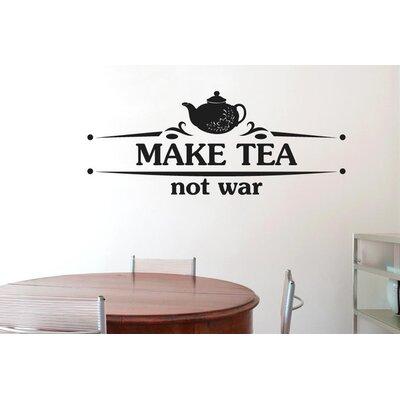 Cut It Out Wall Stickers Make Tea Not War Flower Teapot Wall Sticker