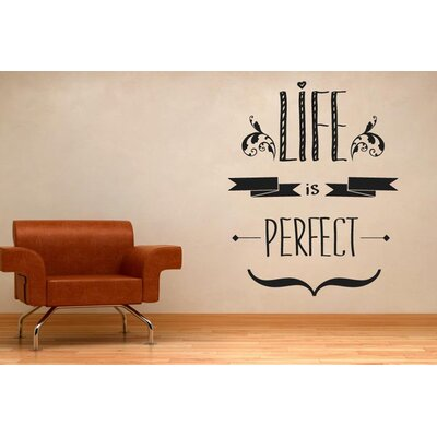 Cut It Out Wall Stickers Life Is Perfect Wall Sticker
