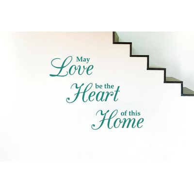 Cut It Out Wall Stickers May Love Be The Heart Of This Home Wall Sticker