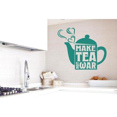 Cut It Out Wall Stickers Make Tea Not War Wall Sticker