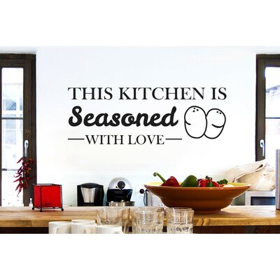 Cut It Out Wall Stickers This Kitchen Is Seasoned with Love Wall Sticker
