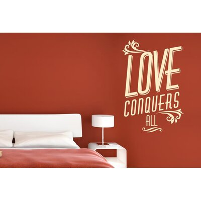 Cut It Out Wall Stickers Love Conquers All Wall Sticker