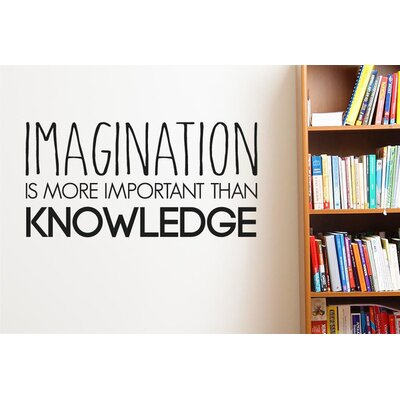 Cut It Out Wall Stickers Imagination More Important Than Knowledge Wall Sticker