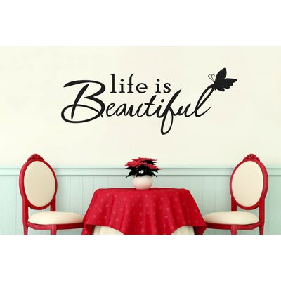 Cut It Out Wall Stickers Life Is Beautiful Perching Butterfly Wall Sticker