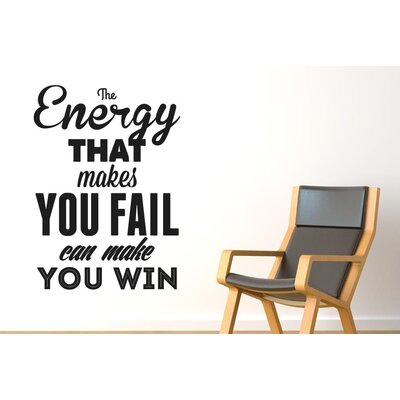 Cut It Out Wall Stickers The Energy That Makes You Fail Wall Sticker