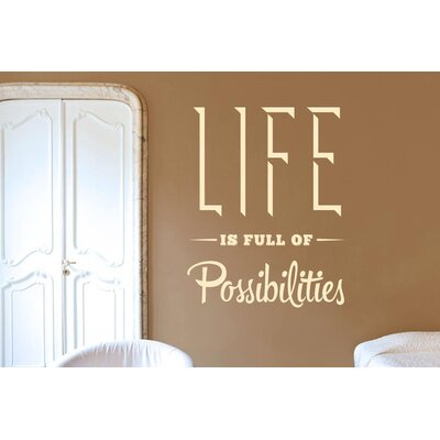 Cut It Out Wall Stickers Life Is Full of Possibilities Wall Sticker