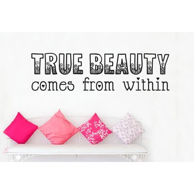Cut It Out Wall Stickers True Beauty Comes From within Wall Sticker