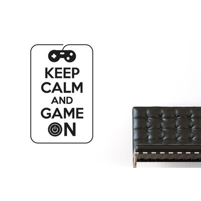Cut It Out Wall Stickers Keep Calm And Game On Wall Sticker