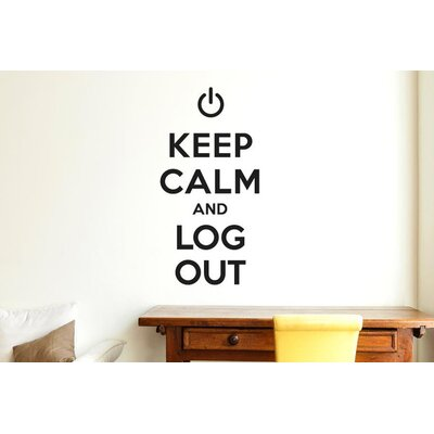 Cut It Out Wall Stickers Keep Calm And Log Out Wall Sticker