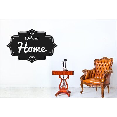 Cut It Out Wall Stickers Welcome Home Vintage Sign Wall Sticker