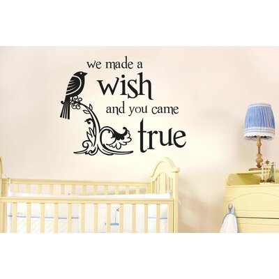 Cut It Out Wall Stickers We Made a Wish and You Came True Wall Sticker