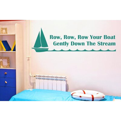 Cut It Out Wall Stickers Row Your Boat Gently Down the Stream Wall Sticker