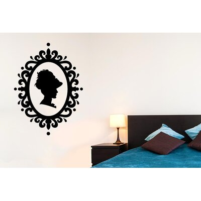 Cut It Out Wall Stickers Lady Profile In Art Nouveau Frame Wall Sticker