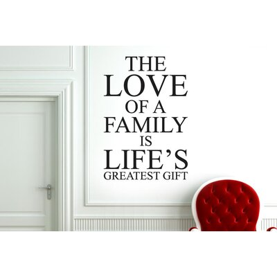 Cut It Out Wall Stickers Love Of A Family Is Lifes Greatest Gift Wall Sticker