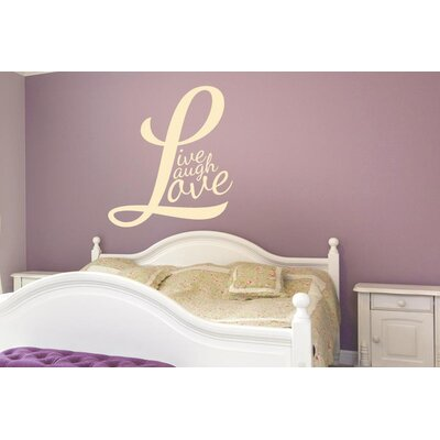 Cut It Out Wall Stickers L Forms Live Laugh Love Wall Sticker