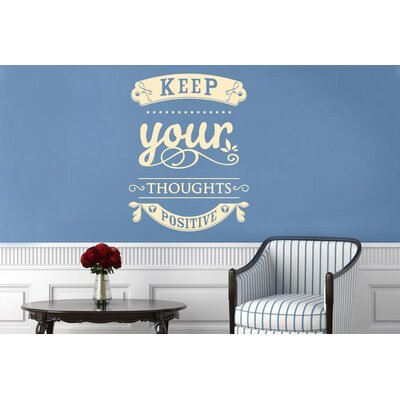 Cut It Out Wall Stickers Keep Your Thoughts Positive Wall Sticker