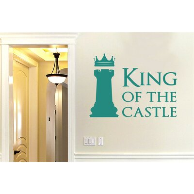 Cut It Out Wall Stickers King of The Castle Chess Piece Wall Sticker