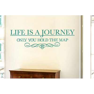 Cut It Out Wall Stickers Life Is a Journey Only You Hold The Map Wall Sticker