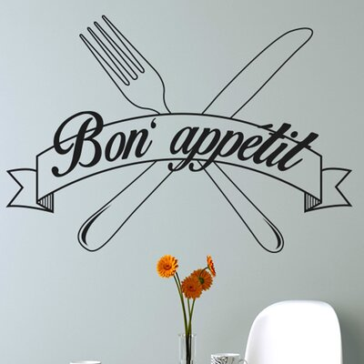 Cut It Out Wall Stickers Bon Appetit Knife and Folk Wall Sticker