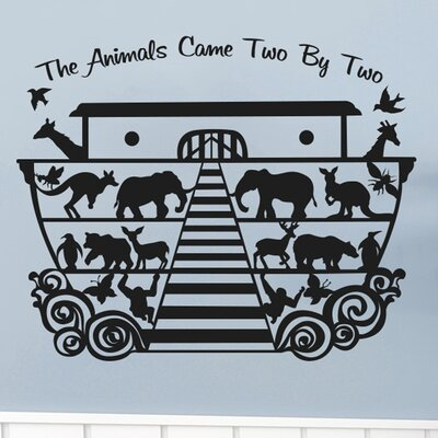 Cut It Out Wall Stickers Noahs Ark the Animals Came Two by Two Wall Sticker