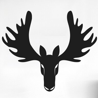 Cut It Out Wall Stickers Cool Forward Facing Moose Head Wall Sticker